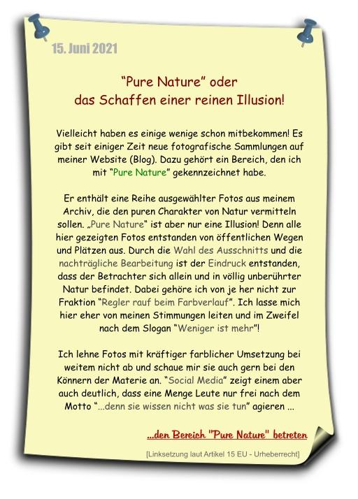 """pure nature - reine illusion - regler rauf bein Farbverlauf - weniger ist mehr - Fotoprojekt """"PURE NATURE"""" öffnen"""