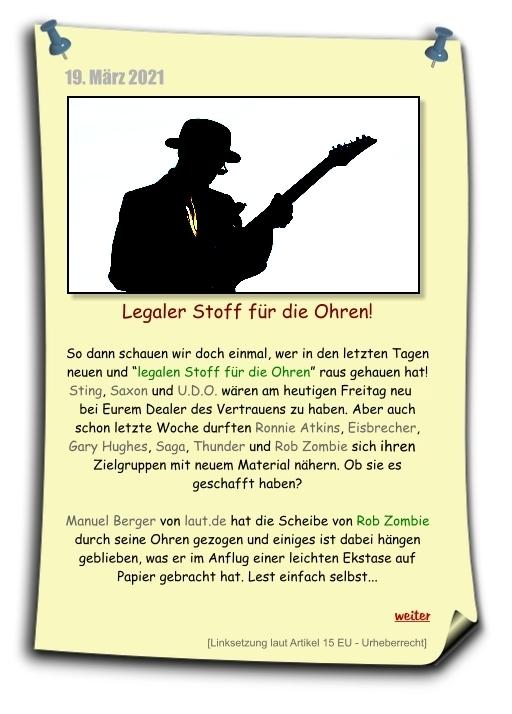 new music, neue Musik, Rob Zombie und weiter zur Albumkritik auf laut.de